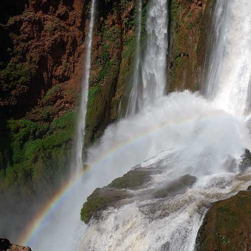 Les cascades d'Ouzoud avec un arc-en-ciel