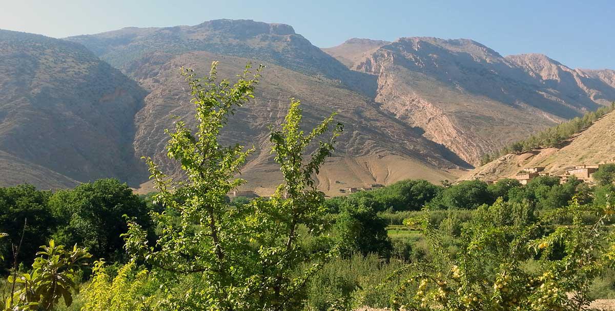 La vallée d'Aït Bouguemez dans le Haut Atlas