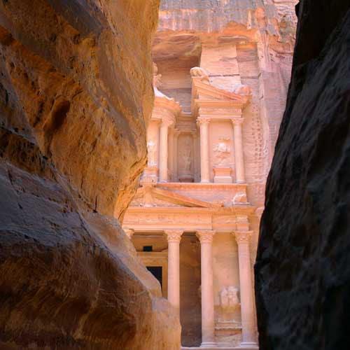 La Khazneh, le trésor de Pétra.