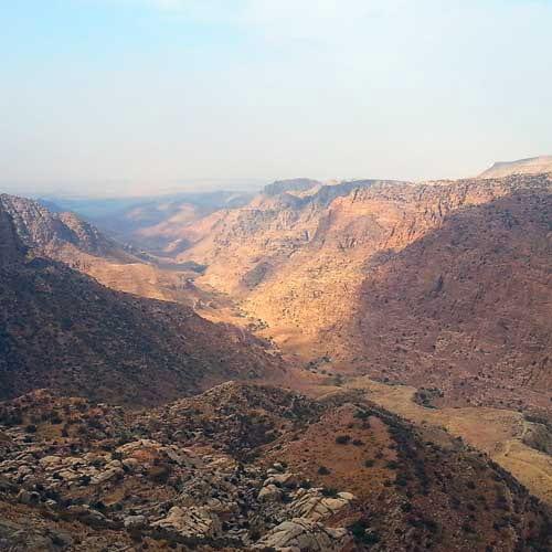 La vallée de Dana, Jordanie.